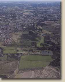 Aerial view of Hornchurch Country Park